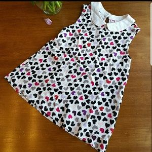 Kate Spade tumbling hearts top